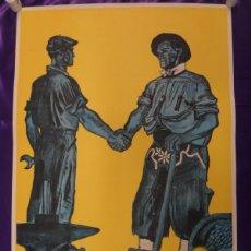 Carteles Guerra Civil: ANTIGUO CARTEL DE LA GUERRA CIVIL.¡¡FRANCO!!. D.E.P.P.1939.ORIGINAL. 90X60. Lote 64939379