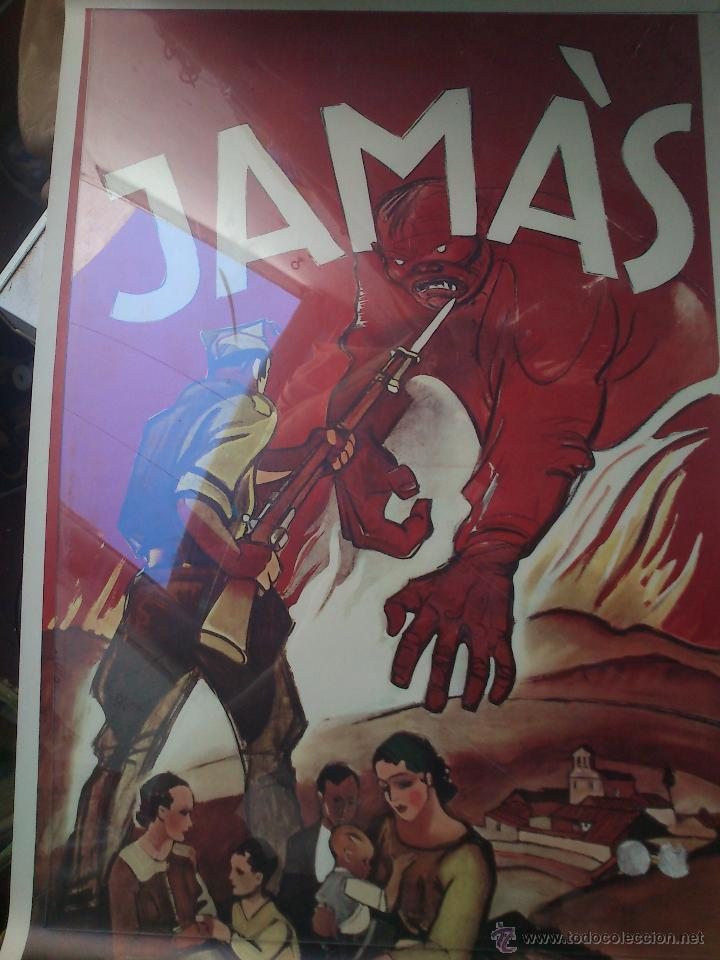 CARTEL. JAMAS. 41 X 67 (Coleccionismo - Carteles Gran Formato - Carteles Guerra Civil)