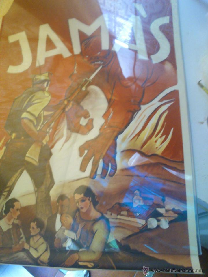 Carteles Guerra Civil: cartel. jamas. 41 x 67 - Foto 4 - 66446170