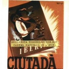 Carteles Guerra Civil: CG1 CARTELES GUERRA CIVIL EKL ZONA REPUBLICANA ~ CARTEL BANDO REPUBLICANO {ED. URBIÓN} Nº 39. Lote 65985770