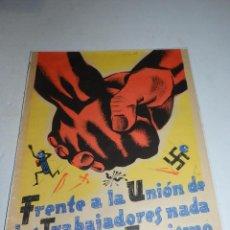 Carteles Guerra Civil: (M) CARTEL GUERRA CIVIL - 50 ANIVERSARIO DE LA UGT DE ESPAÑA 1938 ,FRENTE A LA UNION LOS TRABAJDORES. Lote 69236277