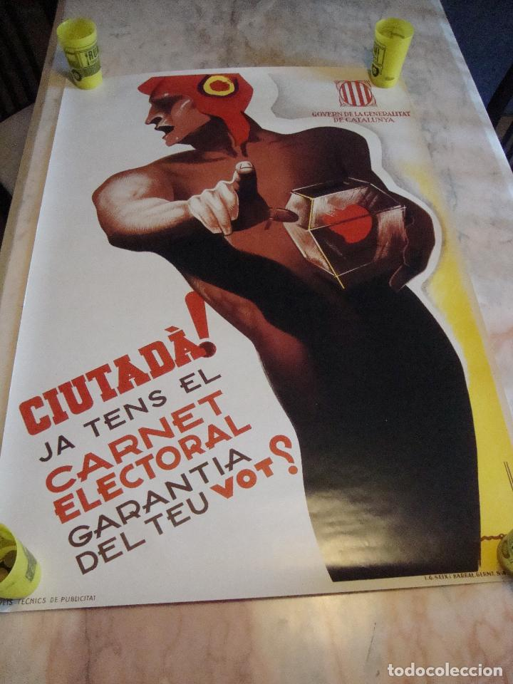 CARTEL REPRODUCCION JOSEP MORELL MEDIDAS 68,5 X 100 (Coleccionismo - Carteles Gran Formato - Carteles Guerra Civil)