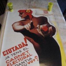 Carteles Guerra Civil: CARTEL REPRODUCCION JOSEP MORELL MEDIDAS 68,5 X 100. Lote 69700057