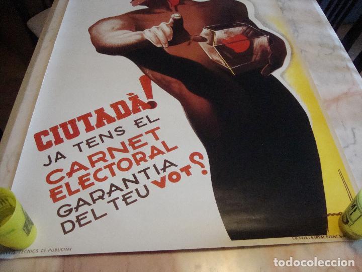 Carteles Guerra Civil: CARTEL REPRODUCCION JOSEP MORELL MEDIDAS 68,5 X 100 - Foto 3 - 69700057