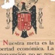 Carteles Guerra Civil: DEPARTAMENTO DE PROPAGANDA FRANCO 1961. Lote 72197759