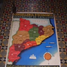 Carteles Guerra Civil: (M) GUERRA CIVIL - ANTIGUO CARTEL ORIGINAL DE EPOCA REGIONS I COMARQUES OCTUBRE 1936 - CONSELLERIA . Lote 74468547