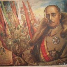 Carteles Guerra Civil: ALEGORIA DE LA VICTORIA FRANCO LA GUERRA HA TERMINADO PACO RIBERA BARNA 1939 GRAFOS CROMOLITOGRAFIA. Lote 82795904