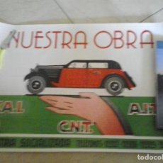 Carteles Guerra Civil: CARTEL GUERRA CIVIL CNT . Lote 85541328