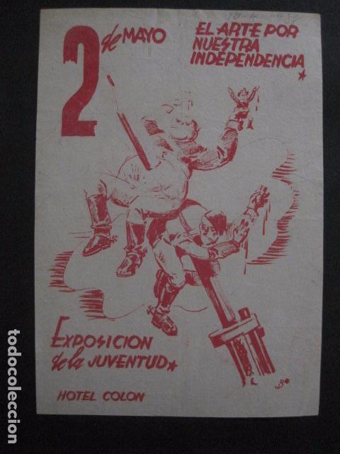 Carteles Guerra Civil: CARTEL BON-2 DE MAYO EL ARTE POR NUESTRA INDEPENDENCIA - AÑO 1938-GUERRA CIVIL -VER FOTOS-(V-11.235) - Foto 2 - 87441460