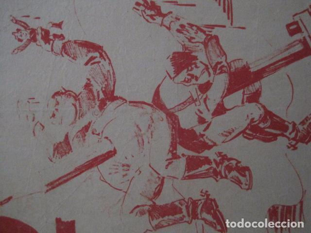 Carteles Guerra Civil: CARTEL BON-2 DE MAYO EL ARTE POR NUESTRA INDEPENDENCIA - AÑO 1938-GUERRA CIVIL -VER FOTOS-(V-11.235) - Foto 6 - 87441460