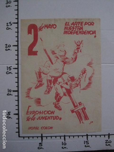 Carteles Guerra Civil: CARTEL BON-2 DE MAYO EL ARTE POR NUESTRA INDEPENDENCIA - AÑO 1938-GUERRA CIVIL -VER FOTOS-(V-11.235) - Foto 10 - 87441460