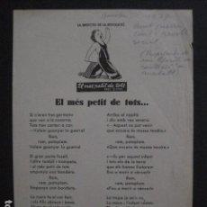 Carteles Guerra Civil: CARTELL EL MES PETIT DE TOTS-LOLA ANGLADA-ANY 1937-GUERRA CIVIL-COMISSARIAT PROPAGANDAFOTOS-V-11.236. Lote 87441940