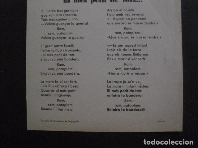 Carteles Guerra Civil: CARTELL EL MES PETIT DE TOTS-LOLA ANGLADA-ANY 1937-GUERRA CIVIL-MASCOTA REVOLUCIO-VER FOTOS-V-11.236 - Foto 6 - 87441940