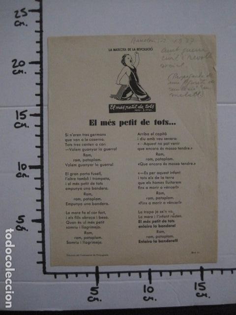 Carteles Guerra Civil: CARTELL EL MES PETIT DE TOTS-LOLA ANGLADA-ANY 1937-GUERRA CIVIL-MASCOTA REVOLUCIO-VER FOTOS-V-11.236 - Foto 11 - 87441940