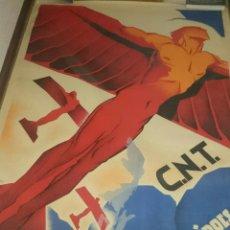 Carteles Guerra Civil: CARTEL GUERRA CIVIL, ARTURO BALLESTER,CNT-UGT,VALENCIA, GRAN TAMAÑO,VED FOTOS. Lote 88131512