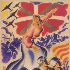 Carteles Guerra Civil: CARTEL GUERRA CIVIL - *OFENSIVA PARA EUZKADI* - CARMONA (1937). Lote 89689096