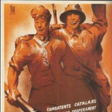 Carteles Guerra Civil: CARTEL GUERRA CIVIL - *UNA EXPOSICIÓ DE GUERRA* - MENTOR (1937). Lote 89691100