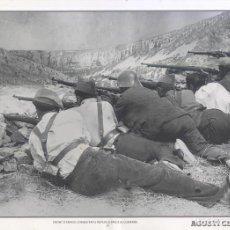 Carteles Guerra Civil: AGUSTÍ CENTELLES - FRONT D' ARAGO, COMBATENTS REPUBLICANS A ALCUBIERRE - GUERRA CIVIL - SÁPIENS. Lote 89692260