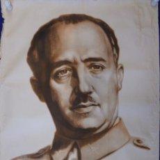 Carteles Guerra Civil: ANTIGUO CARTEL DE LA GUERRA CIVIL.RETRATO DE FRANCO. CRISPIN.113X86. 1939. ORIGINAL. Lote 99343491