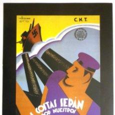 Carteles Guerra Civil: CARTEL CNT FAI. Lote 104148679