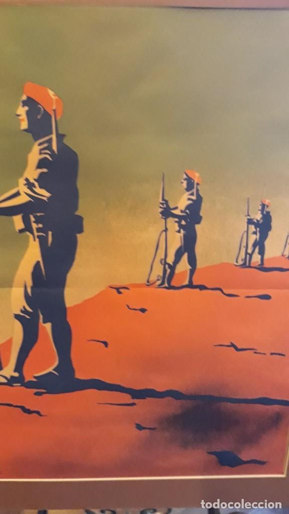 CARTEL CARLISTA LITOGRAFÍA VALVERDE RENTERÍA DEL DIBUJANTE ARLAIZ GUERRA CIVIL ESPAÑOLA (Coleccionismo - Carteles Gran Formato - Carteles Guerra Civil)