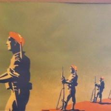 Carteles Guerra Civil: CARTEL CARLISTA LITOGRAFÍA VALVERDE RENTERÍA DEL DIBUJANTE ARLAIZ GUERRA CIVIL ESPAÑOLA. Lote 105963491