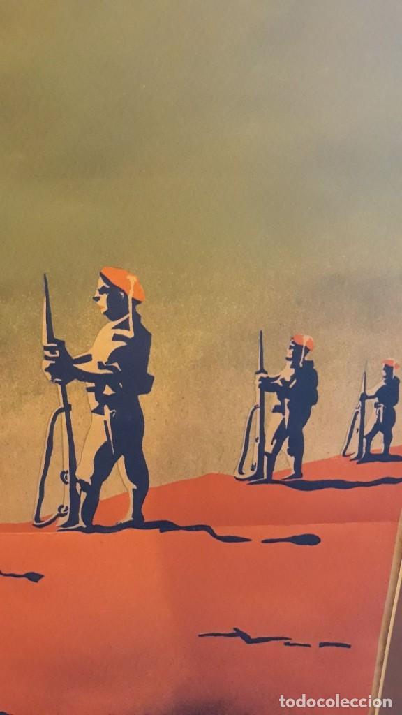 Carteles Guerra Civil: Cartel Carlista litografía Valverde Rentería del dibujante Arlaiz guerra civil española - Foto 2 - 105963491