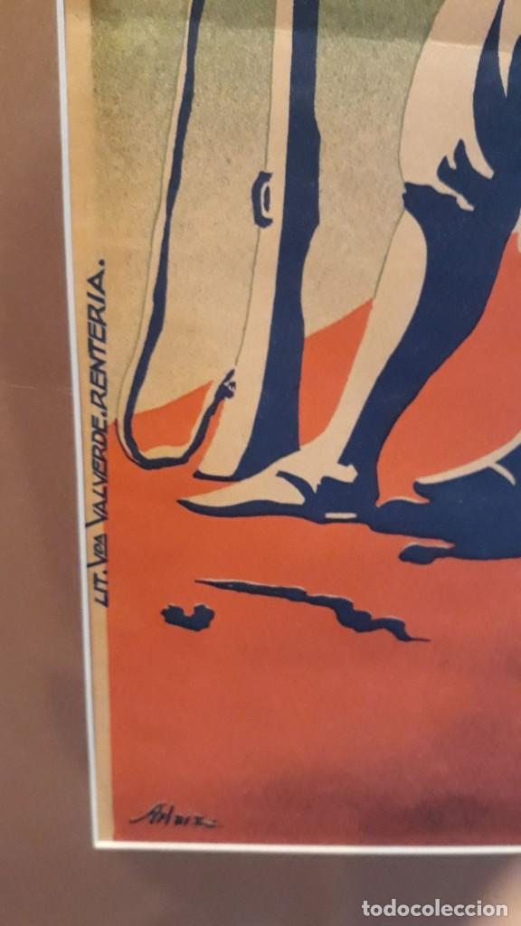 Carteles Guerra Civil: Cartel Carlista litografía Valverde Rentería del dibujante Arlaiz guerra civil española - Foto 4 - 105963491