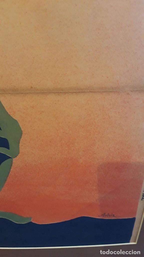Carteles Guerra Civil: Cartel Carlista litografía Valverde Rentería del dibujante Arlaiz guerra civil española - Foto 5 - 105963491