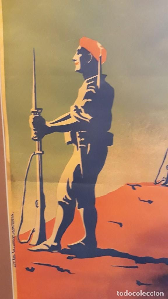 Carteles Guerra Civil: Cartel Carlista litografía Valverde Rentería del dibujante Arlaiz guerra civil española - Foto 6 - 105963491