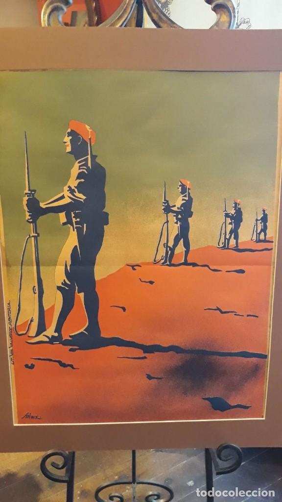 Carteles Guerra Civil: Cartel Carlista litografía Valverde Rentería del dibujante Arlaiz guerra civil española - Foto 7 - 105963491