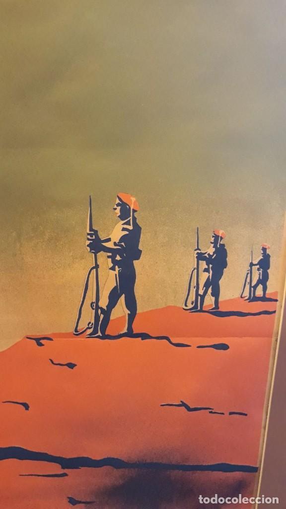 Carteles Guerra Civil: Cartel Carlista litografía Valverde Rentería del dibujante Arlaiz guerra civil española - Foto 8 - 105963491