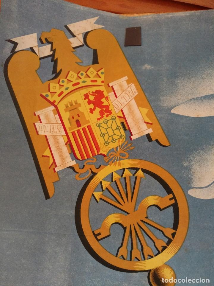 Carteles Guerra Civil: ZVCOLEC.CARTEL ORIGINAL.REVOLUCION NACIONAL SINDICALISTA EN EL CAMPO. 100 X 68 cm. - Foto 5 - 110923199