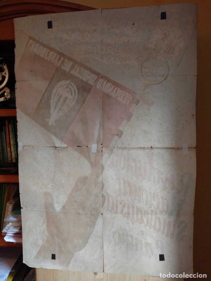 Carteles Guerra Civil: ZVCOLEC.CARTEL ORIGINAL.REVOLUCION NACIONAL SINDICALISTA EN EL CAMPO. 100 X 68 cm. - Foto 6 - 110923199