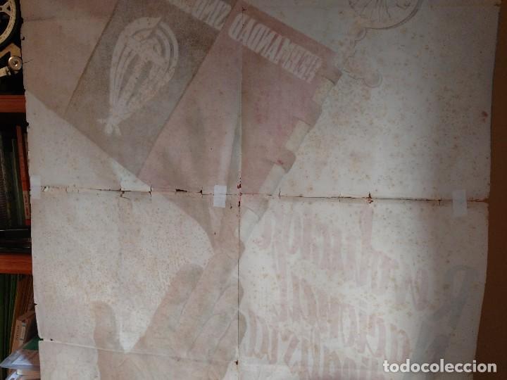 Carteles Guerra Civil: ZVCOLEC.CARTEL ORIGINAL.REVOLUCION NACIONAL SINDICALISTA EN EL CAMPO. 100 X 68 cm. - Foto 7 - 110923199
