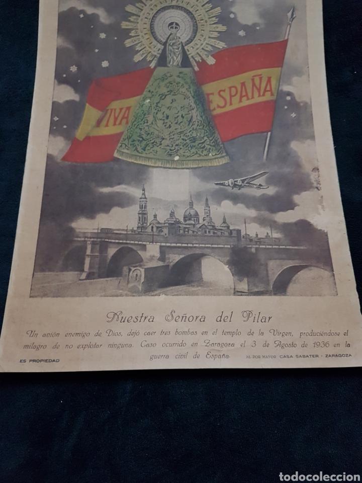 Carteles Guerra Civil: Espectacular cartel bombardeo basilica del Pilar guerra civil - Foto 2 - 111918883
