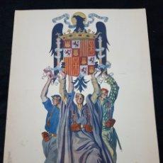 Carteles Guerra Civil: CARTEL GUERRA CIVIL UNIFICACION AGUILA IMPERIAL TEJADA LITOGRAFIA RENTERIA. Lote 111921543