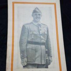 Carteles Guerra Civil: CARTEL FRANCO ZARAGOZA GUERRA CIVIL. Lote 111925083