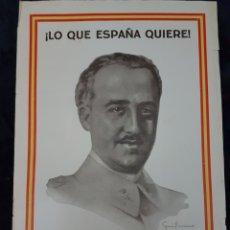 Carteles Guerra Civil: CARTEL FRANCO ZARAGOZA GUERRA CIVIL. Lote 111925343