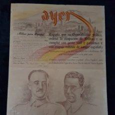 Carteles Guerra Civil: INCREIBLE CARTEL PERIODICO GUERRA CIVIL FRANCO MOLA JEREZ DE LA FRONTERA 1937. Lote 111925979