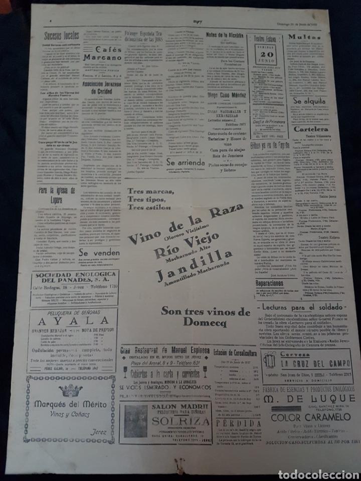 Carteles Guerra Civil: Increible cartel periodico guerra civil Franco Mola Jerez de la Frontera 1937 - Foto 4 - 111925979