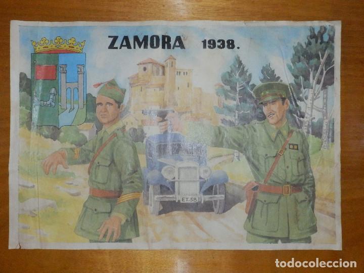 CARTEL - ZAMORA 1938 - 42 CM X 29,5 CM.. (Coleccionismo - Carteles Gran Formato - Carteles Guerra Civil)