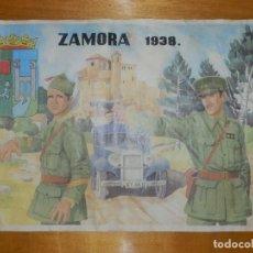 Carteles Guerra Civil: CARTEL - ZAMORA 1938 - 42 CM X 29,5 CM... Lote 113126503