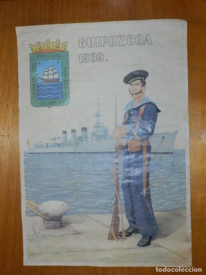 CARTEL - GUIPUZCOA 1939 - 42 CM X 29,5 CM.. (Coleccionismo - Carteles Gran Formato - Carteles Guerra Civil)
