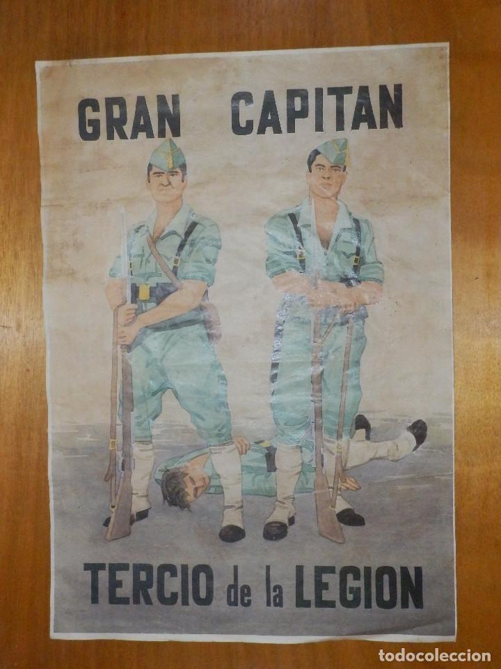 CARTEL - GRAN CAPITAN - TERCIO DE LA LEGION - 42 CM X 29,5 CM.. (Coleccionismo - Carteles Gran Formato - Carteles Guerra Civil)