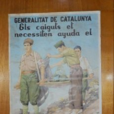 Carteles Guerra Civil: CARTEL - GENERALITAT DE CATALUNYA - CONSELLL DE SANITAT DE GUERRA - 42 CM X 29,5 CM... Lote 113126595