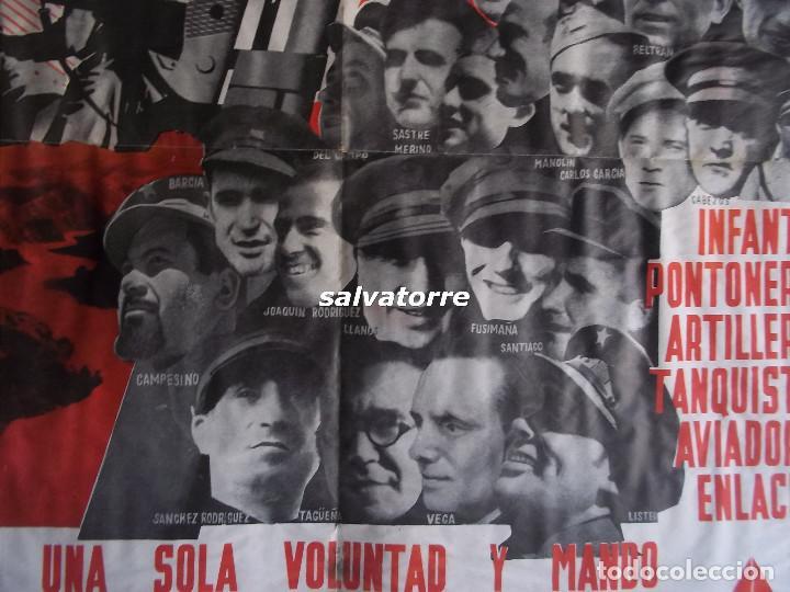 Carteles Guerra Civil: JOSEP RENAU. EXCEPCIONAL CARTEL REPUBLICA ESPAÑOLA.EJERCITO ESPAÑOL.BATALLA EBRO.1938.ORIGINAL - Foto 8 - 117869183
