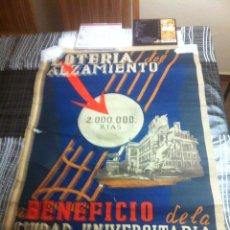 Carteles Guerra Civil: CARTEL LOTERÍA DEL ALZAMIENTO AÑO 1940. Lote 120003050