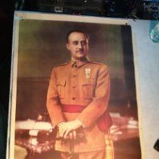Carteles Guerra Civil: PRECIOSO CARTEL DE FRANCO, FOTO DE JALON.. Lote 81246320