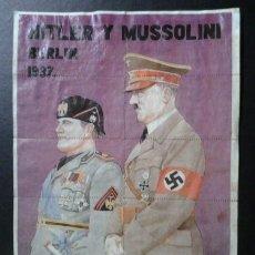 Carteles Guerra Civil: GUERRA CIVIL LOTE DE 10 CUPONES DE RACIONAMIENTO HITLER. MUSSOLINI OVIEDO 1937. . Lote 128346731
